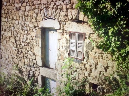 Hout luik met houten shutters
